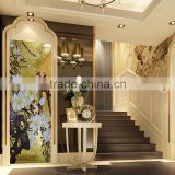 SMM03 Decorative pictures for bathroom 3d wall mural Gold leaf bathroom tiles