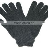 Men's Black 100 Cashmere Gloves