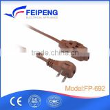 Home appliances support customize approved CE certificates 220V 10A AC power extension cord