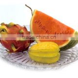 Crystal acrylic Round fruit dish Round petal compote fruit tray round acrylic serving tray