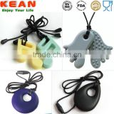 New Teether 15 colors for option Pendant Baby Cute Toy pendant necklace 100% BPA free food grade silicone