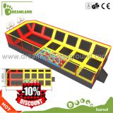 Wholesale Square trampoline with ball pit balls,big trampoline park indoor
