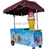 Factory direct sale Fiber glass Red Color Hot Dog Cart Trailer