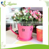 2017 Metal cup shaped planter self-watering system decorative plant pots indoor unique modern galvanized metal flower pot