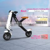 New Arrival Light K10 Electric Folding Bicycle, 10inch 36V 400W Electro Bike, Mini Pocket Folding E-bike