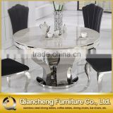 Modern 8 seater marble dining table black stone table