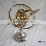 Brass Armillary in brass and nickel finish