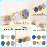 High Quality Rough Crushed Crystal Agate Druzy Ring Wholesale