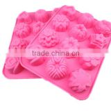 food grade flower shape silicone cupcake mold flower silicone muffin mold silicone baking molds