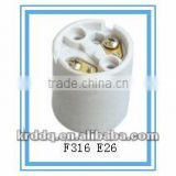 F316 E26 electrical ceramic lamp holder types