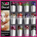 French half watermark fiower painting nails stick ,DIY Fashion Nail art