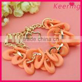 long orange fashion dollar chain necklace WNK-241