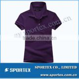 Polo t shirt for ladies with 100% cotton / cotton polo shirt