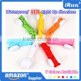 Light Up LED Shoelaces Flash Party Disco Shoe Laces Shoe Strings - LED Printing Shoelace Colourful Glowing Shoelace - 7 Colors