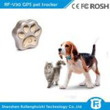 Reachfar rf-v30 2016 cheap mini waterproof wifi anti-lost pet gps tracker inside sim card for small dog/cat