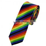 "Men's Women's Rainbow Colorful Gay Pride Skinny 2"" Necktie Tie New Party Fancy Dress"