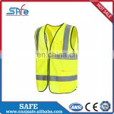 100% Polyester horse riding reflective safety high visibility yellow CE vest