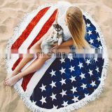 Flag Microfiber Round Beach Towle Wrap Dress