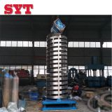 sanyuantang spring vibrating vertical conveyor lift for PVC plastic granules industrial cooling