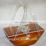 lucite unique classic design lady handbag women handbag