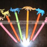 funny animal wooden cartoon ballpoint pens