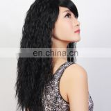 popular long natural black OEM synthetic kinky curl hair Wigs,kinky straight kankekare heat resistant wig