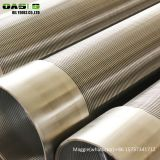 stainless steel round tube V slot filter mesh well screens pipes