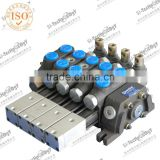 100LPM sectional hydraulic pneumatic proportional control valve / hydraulic spool valve                                                                         Quality Choice