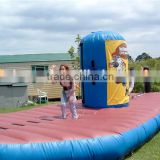 Inflatable bungee sport games/inflatable basketball bungee run challenge