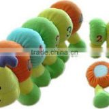 Big funny baby toy plush caterpillar