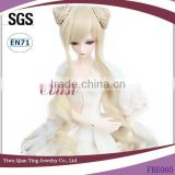 latest Classic beauty platinum blonde curly baby doll hair wigs