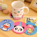 Promotional table cup pad/mat,design custom silicone cup mat,cartoon cute silicone cup coaster