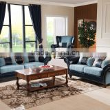 Factory modern furniture Leather+Fabric sectional sofa of house 1+2+3 living room best sofa set