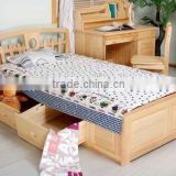 New style children bed With cabinet soild children bed With cabinet wooden children bed With savings cabinet