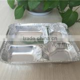 aluminum food pan 4-compartment Food Tray for meals