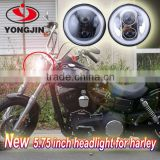 New products 12v 24v 45w motor headlamp 5.75 inch led headlight with angleeye for harley touring
