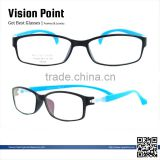 Latest TR90 full rim bright color stylish glasses frames for girls for men with changeable temple