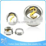 Dollar Sign Thread Ear Plug Guage Wholesale Body Jewelry In China