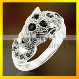 Top quality big stone animal cz ring 925 sterling silver ring