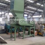 Waste HDPE milk bottles crushing and recycling machine