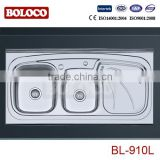 120*60cm Lay-on Stainless steel granite kitchen sink BL-910L