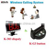 wireless service call button system for restaurant guest remote control beepers