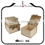Wholesale Handmade Hight Quality Cheap Kraft Paper Flat Folding Gift Box with Bow Tie                                                                         Quality Choice