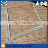 Clear heat resistance step lighting cover glass for lamp