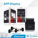 Smartphone car sensor wireless tire pressure monitoring system, tpms, bluetooth smartphone tpms