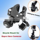 180degree Rotate Best Bike Bicycle Scooter Motorcycle Golf Stroller Handlebar Clamp Mount Holder for Gopro SJ4000 Sport Camera