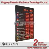 "Led currency exchange rate board display with 1.0"" led digital"
