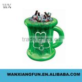 Cup shape inflatable beer cooler, promotional inflatable beer cooler, inflatable beer cooler bucket