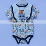 Factory Design Available 0-3 Year-old Cute OEM Knitted Baby Animal Romper