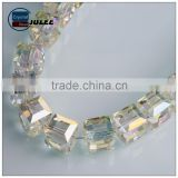 2015 new arrival 6mm Transparent style yellow color beads Square Shape Crystal Glass Cube beads